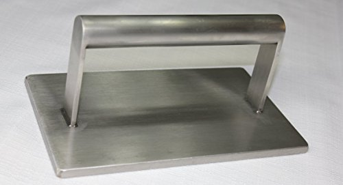 CookEasy Stainless Steel Steak Weight, Grill Press, Hamburger & Bacon Press, 4.4 LB