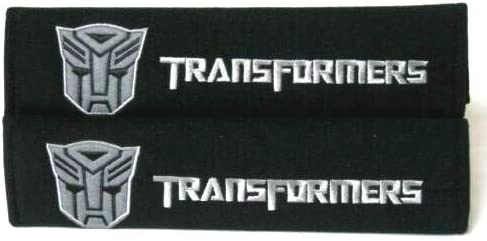 Foxxi Pair Embroidery Sport Transformer Cotton Autobot Seat Belt Cover Shoulder Pad Cushion Transformer Racing Chevy Camaro