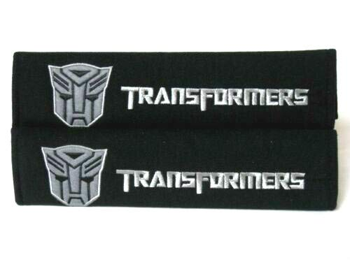 Foxxi Pair Embroidery Sport Transformer Cotton Autobot Seat Belt Cover Shoulder Pad Cushion Transformer Racing Chevy Camaro (Transformers Seat Covers)