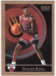 Stacey King 1990-91 SkyBox Chicago Bulls Card #42