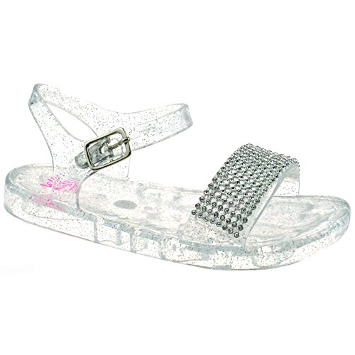 Lelli Kelly LK4914 (AA89) Ice Seychelles Diamante Jelly Sandals -22 (UK 5.5)