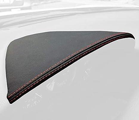 RedlineGoods gauge hood cover compatible with Toyota GT86 2012-19 Black Alcantara-Red thread