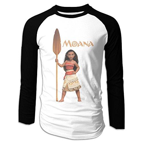 Creamfly Mens Moana Action Figure Long Sleeve Raglan Baseball Tshirt M