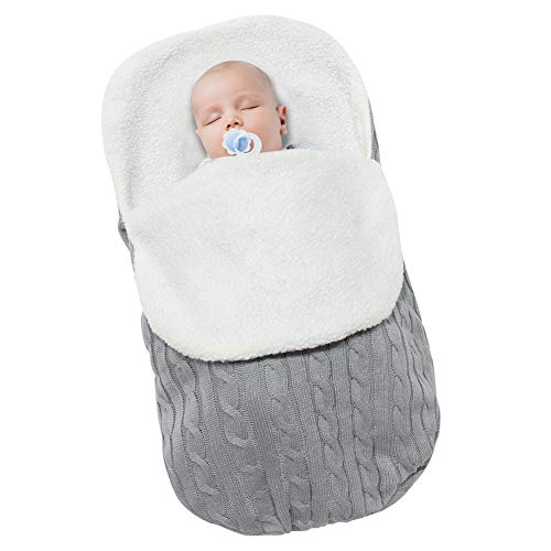 Polar Fleece Sleepsack - MHJY Newborn Baby Swaddle Blanket Wrap,Knit Warm Fleece Blanket Swaddle Sleeping Bag Sleep Sack Stroller Wrap for 0-12 Month Baby Boys Girls