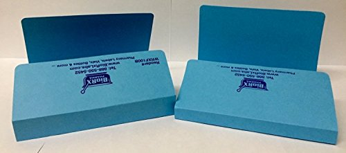 Pharmacy Rx Folder - 1/2 inch spine, blue - 100 per case