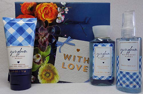 Bath and Body Works New Gingham Gift Set -Decorated Box That Reads