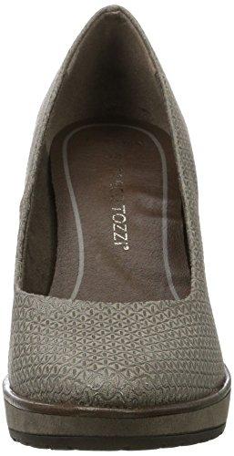 Mujer Tacón Zapatos Marco Tozzi 22405 Stru taupe Marrón De q4AwXgxX