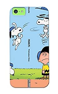 Chapiterq Case Cover Protector Specially Made For Iphone 5c Charlie Brown Peanuts Comics Snoopy
