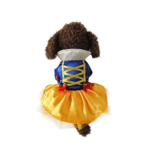 Youbedo Snow White Dog Costume - Halloween Princess Puppy Dress, Snow White Pet Apparel for Party Christmas Halloween Special Events Costume for $<!--$12.99-->