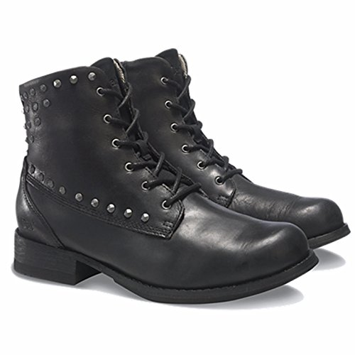 Cat By Caterpillar Fueled Black Womens Leather Boots US 8.5 M, EU 39.5