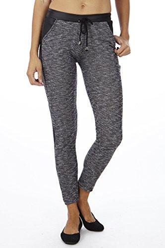 Dinamit Women's Joggers Pants Grey Black Large