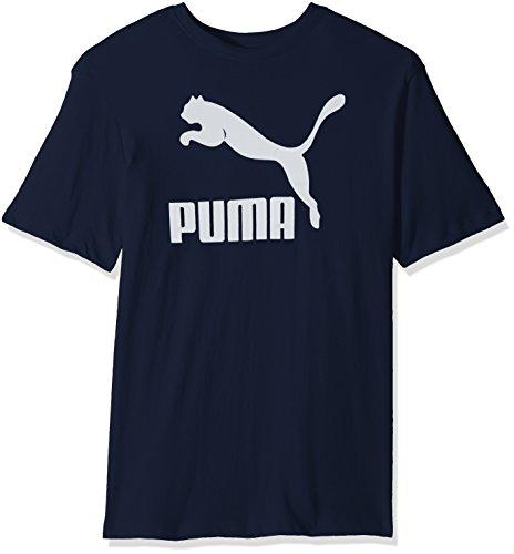 Coat White T-shirt - PUMA Men's Archive Life T-Shirt, Peacoat White, X-Large