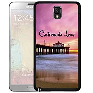 California Love with Beach Scene and Pink Sky Sunset (Samsung Galaxy Note III 3 N9000) Hard Snap on Phone Case Cover