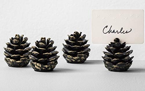 Pinecone Place Card Holders - Pine Cone Place Card Holders by Hearth and Hand