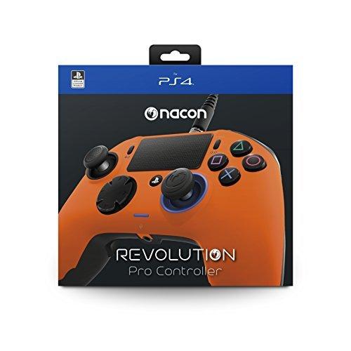 (NACON Revolution PRO Controller Gamepad Orange Edition PS4 Playstation 4 eSports Designed)
