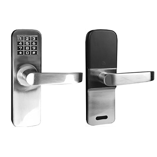 Angel Digital Electronic Backlit Keypad Door Lock with Backup Keys, Keyless Entry by Password Code Combination, Great for Resort Apartment Cottage, home, office, warehouse, condo, rental unit, club, (Cottage Home Office)