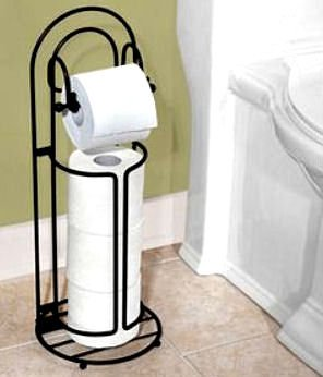 - TOILET TISSUE TOWER DECORATIVE WROUGHT IRON