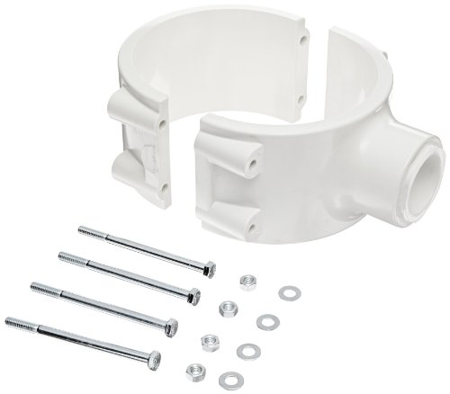 Spears 466E Series PVC Clamp-On Saddle with EPDM O-Ring, Zink Bolt, Schedule 40, White, 3