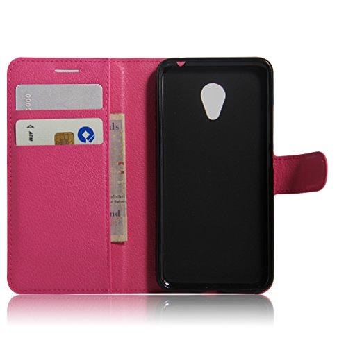 Funda MEIZU M3,Manyip Caja del teléfono del cuero,Protector de Pantalla de Slim Case Estilo Billetera con Ranuras para Tarjetas, Soporte Plegable, Cierre Magnético E