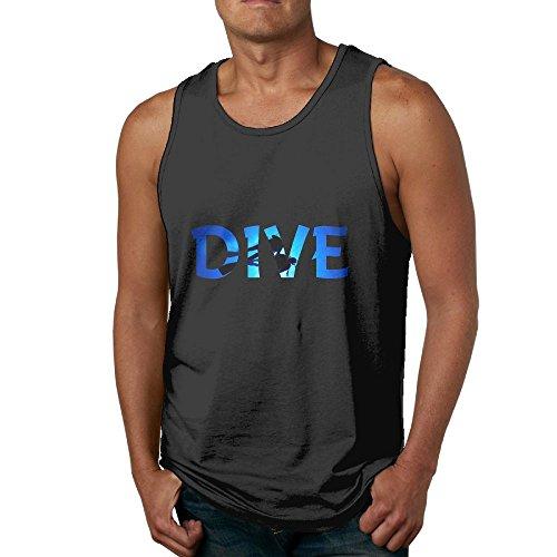 Shadow Deep Swim DIV Athletic Menâ€s Muscle Gym Sleeveless Essential Cotton Tank Top Fitness Sleeveless T-Shirts ()