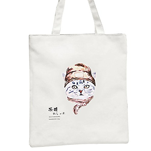 Stylish Pu Handbags Shopping Canvas Animal 2 3 Casual Cartoon Shoulder Tote Cat Bags Ran 0xvr0q4