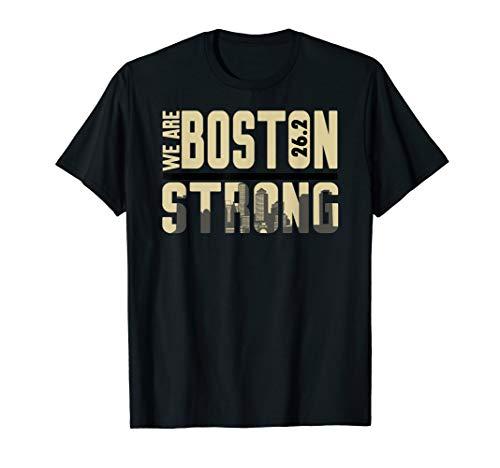 (skyline tee boston strong marathon shirt Gift T Shirt)