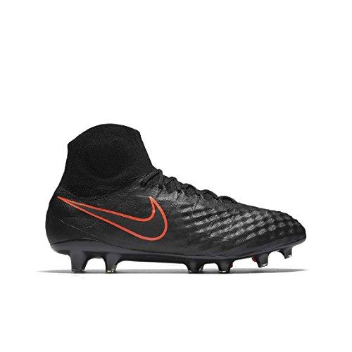 Nike Mens Magista Obra Ii Fg Nero / Nero / Scarpe Da Calcio Total Crimson Nero / Nero / Cremisi Totale