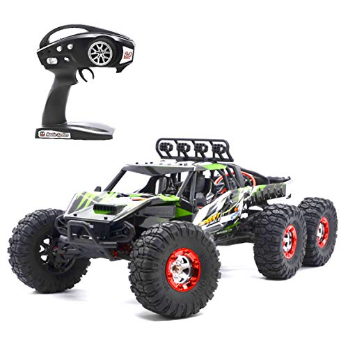 Aiitoy Fast RC Cars, 6WD 60km/h Brushless 1:12 Scale 2.4Ghz Radio Remote Control Truck, Electric Monster High Speed Off-Road Rock Crawler for Adults and Kids (FY06), Green
