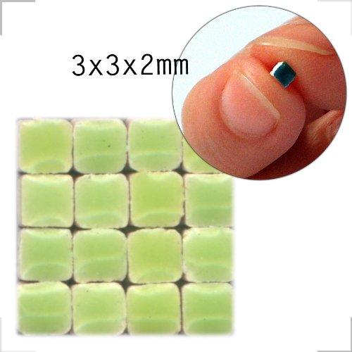 Mosaic-Minis(1/8 inch)(3x3x2mm), 1000 pieces, Pistachio green, WG04