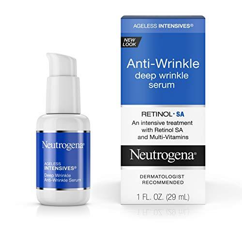 - Neutrogena Ageless Intensives Anti Wrinkle Cream, Face Serum with Retinol SA - Face Moisturizer, wrinkle filler and Dark Circles with Glycerin, Retinol, Vitamin E, Vitamin A, 1 fl. oz