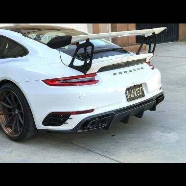 Amazon.com: Porsche 991.2 Turbo rear bumper & Taillight upgrade for early 991 Turbo cars: Automotive