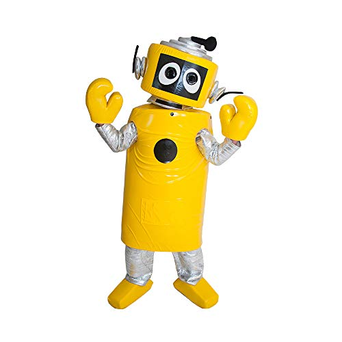 Plex Yellow Robot Yo Gabba Gabba Mascot Costume Character Cosplay Party Birthday Halloween -