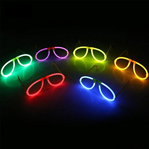 BigFamily Flashing Glasses 6Pcs Glow Eyeglasses Random Color Light Stick Spectacle Frame For Kids Party Festive - For Spectacle Frames Kids