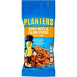 Planters Cajun Trail Mix Single Serve Packet (2 oz Packet, Pack of 72)