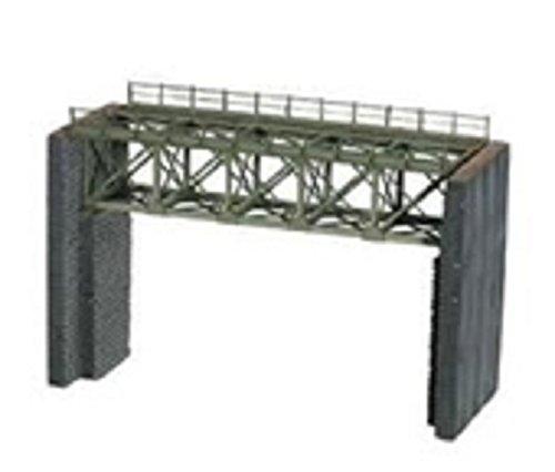 N Scale Steel Truss Bridge w/Cut-Stone Abutments - Kit (Laser-Cut Card) -- 4