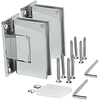 Vrss 304 Stainless Steel Shower Glass Door Hinge 90 Degree Wall To