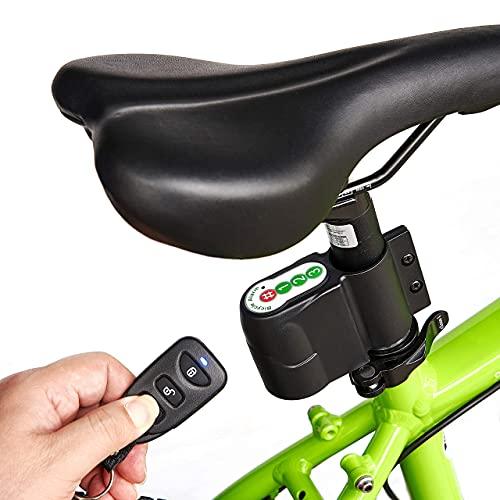Alarma de bicicleta y moto de 120 db. con control remoto.