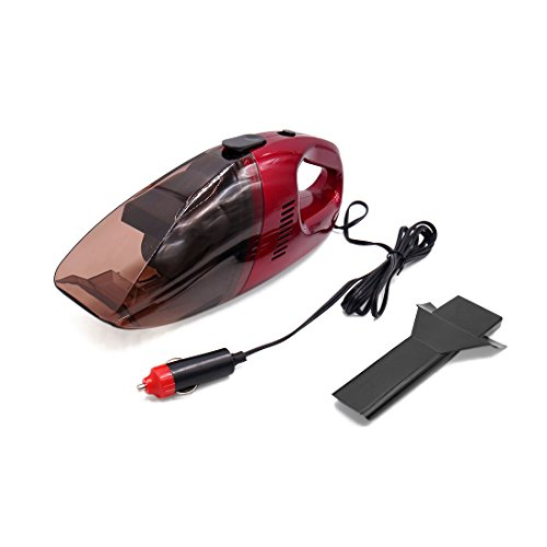 uxcell DC 12V 75W Portable Auto Car Handheld Vacuum Dirt Cleaner Dustbuster Duster Red