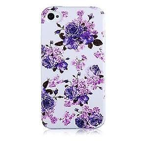 Modelo p¨²rpura Rugosa Caso de silicona suave para iPhone5/5S