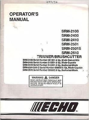 echo srm 2400 manual