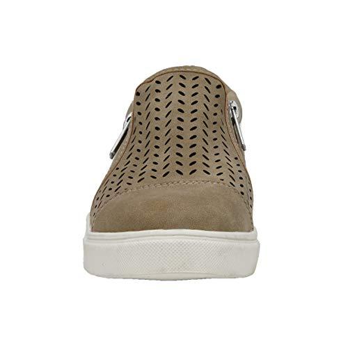 CUSHIONAIRE Women's Roxana Sneaker, Natural, 7
