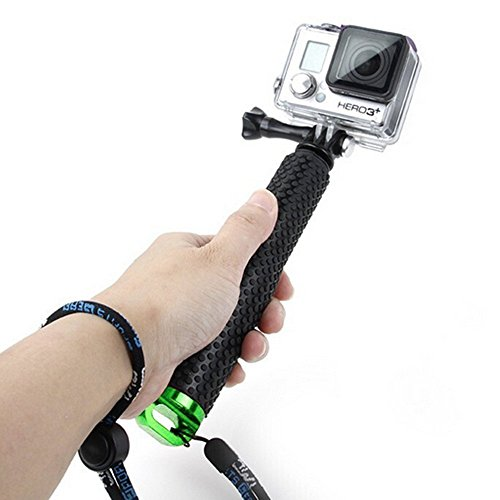 Waterproof Floating Hand Grip (Floating Pole & Handle & Diving Monopod & Floating Stick)compatible with all GoPro Cameras Hero 4 Session Black Silver Hero 2 3 3+ 4 5 (s3 (Greens Floating Sticks)