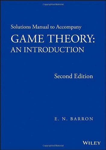 Solutions Manual To Accompany Game...