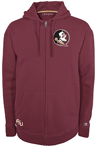 NCAA Florida State Seminoles Men's Fan Favorite 2 Full Zip Hooded Fleece Jacket, Small, (Garnet Florida State Seminoles Jacket)