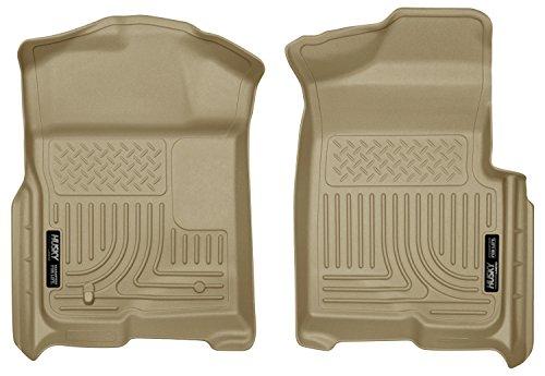 Front Floor 4 Door Tan (Husky Liners Front Floor Liners Fits 09-14 F150 SuperCrew/SuperCab/Standard)