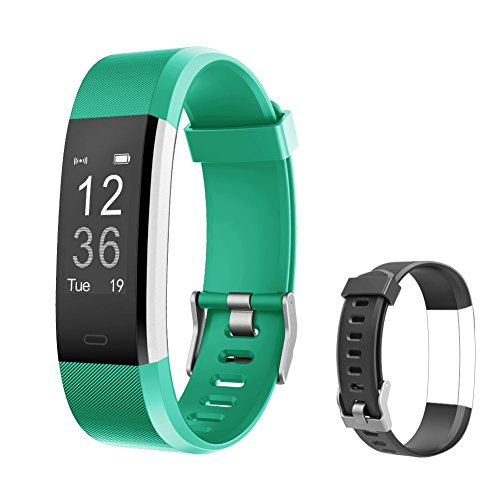 Fitness Tracker HR, Letsfit Activity Tracker Heart Monitor Watch, IP67 Waterproof Smart Band as Step Counter Pedometer Watch with Replacement Band for Kids Boys Girls Women Men