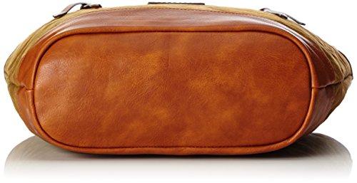 Tom Tailor Acc Damen Suna Schultertasche, Braun (Cognac), 12.5 x 32 x 44 cm