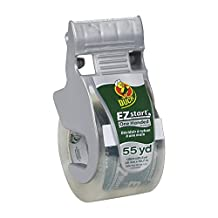 """Duck Brand EZ Start Packaging Tape with One Handed Dispenser, 1.88""""x55.5 yd Roll, Single Roll, Clear (1259457)"""