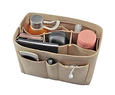 3MM Wool Blended Felt Fabric Purse Organizer Insert for Purse Handbag Tote, 3 Sizes
