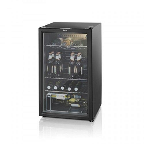 refrigerator glass front. swan glass fronted undercounter fridge, 93 litre, black, sr12020bn: amazon.co.uk: large appliances refrigerator front t
